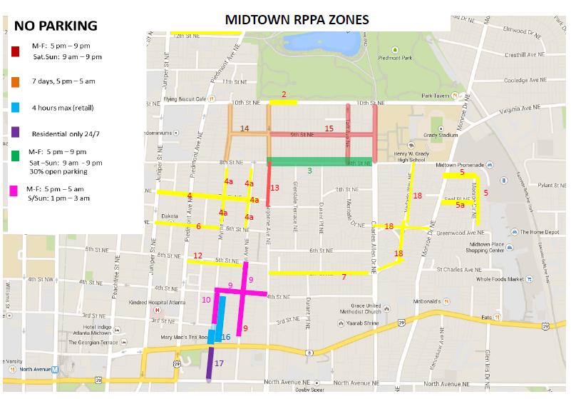Parking Map Midtown Neighbors Association