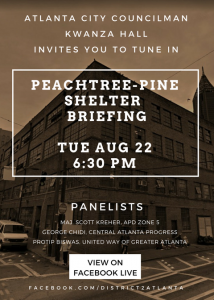 Peachtree Pine Shelter Facebook Live Event
