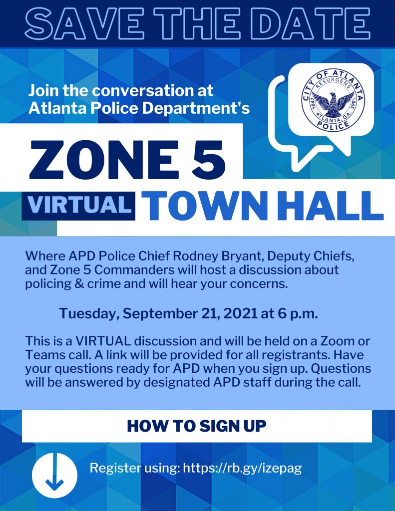 APD Zone 5 Public Safety Town Hall @ Virtual Zoom Webinar
