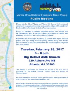 ReNew Atlanta Monroe Drive Complete Street @ Big Bethel AME Church  | Atlanta | Georgia | United States
